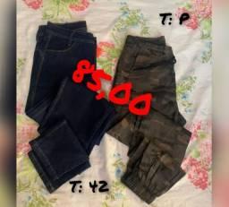Saias e calças jeans