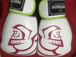Luvas Boxe Muay Thai -training- Rosa/branco/verde- Pretorian