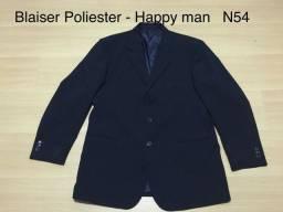 Blaiser Poliéster - Happy man Happy -N54-Cinza Chumbo e Azul Marinho