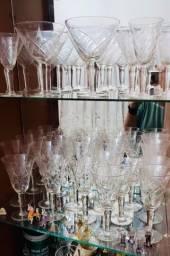 Taça de Cristal e copo de Cristal