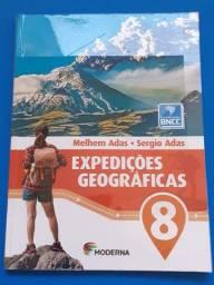 Livro - Expedições Geográficas 8º ano - livro novo, sem uso