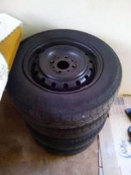 Rodas fiat Palio aro 13 com pneus, serve em uno