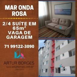 Residencial Mar Onda Rosas - 2 Quartos, Miragem - Buraquinho-Maravilhoso!