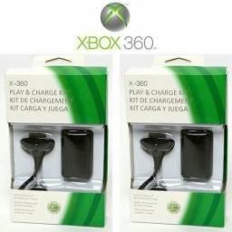 Kit 2 Baterias Carregador Controle Xbox360 Slim30.000mah+cab