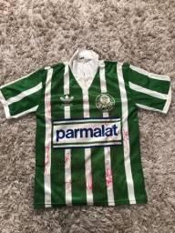 Camisa Palmeiras 1992 autografada todo elenco