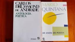 """Livros: """"80 Anos de Poesia"""" E  """"Antologia Poética """""""