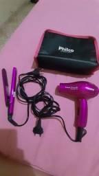 Kit secador e prancha marca Philco