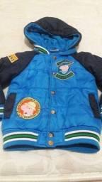 Jaqueta bem quentinho c/ capuz azul