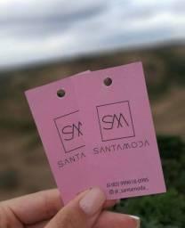 Tags, cartão de visita, cartão fidelidade personalizado