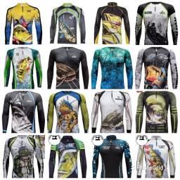 Camisas de pesca King Brasil com proteção UV