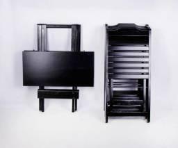 Conjunto dobrável mesa com 4 cadeiras