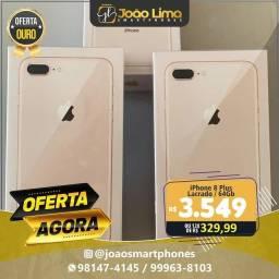 IPHONE 8 PLUS, 64GB, GOLD, LACRADO, SUPER OFERTA