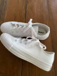 All Star Converse de couro branco