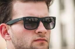 Diversas Cores!!! Lindo Óculos Ray Ban Quadrado Masculino Justin 4165 Preto Fosco Degradê