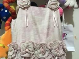 Lindo vestido de festa Tam 6 rose da FluFlu troco