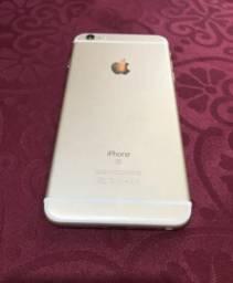 IPhone 6S Plus gold 64gb, aceito cartão