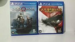Os dois god of war por 90 reais