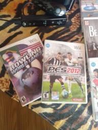 Nintendo Wii com jogos e controle