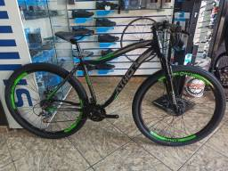 Bicicleta Aro 29 Athor top android Preta Fosca com verde