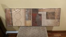 Lindo quadro com tema abstrato. Medidas: 1.20m x 40cm. Estado de novo!