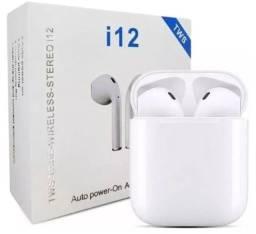 Fone Bluetooth i12 - Sem fio