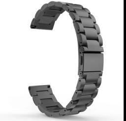Pulseira de aço Inoxidável preta para GTS/ Bip