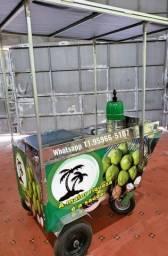 Carrinho de agua de coco tucano