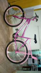 Bicicleta rosa aro26
