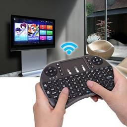 Mini Teclado Sem Fio Smart Tv Box Media Player Pc Videogame