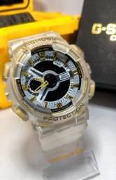 Relógio G-Shock Ga110 Transparente/Dourado Automático digital ponteiro a prova d'agua