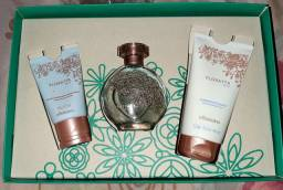 Kit floratta blue perfume, esfoliante e creme de mãos
