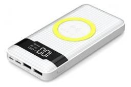 Carregador Portátil Pineng Pn-888 Branco 10000mah USB E Wireless<br><br>