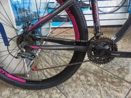 Bicicleta Aro 29 Athor top android Preta Fosca e Rosa