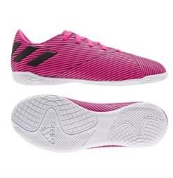 Vende-se Chuteira Futsal Original da Adidas Nemeziz 19 4 IN - Pink+Preto semi nova
