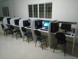 Vendo escola de informatica montada C/ 5pcs e 8 baias R$ 8.000,00