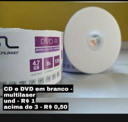 DVD e CD multilaser