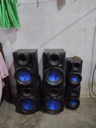Caixas de som da X metal bass