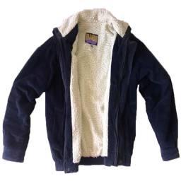 Jaqueta lã de carneiro casaco de veludo
