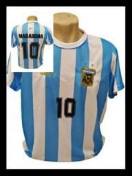 Camiseta Retrô Argentina Maradona