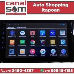 Central Multimidia Vw T-cross Polo Virtus NivusTela 9 Android Instalada na Canal Som