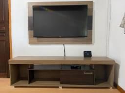 Painel com rack para TV 50 polegadas