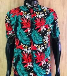 Camisa floral P ao GG consulta cor disponível