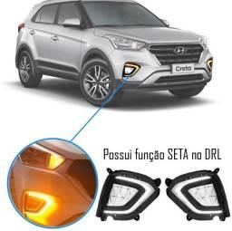 Kit Farol de M. Hyundai Creta 2020 Led drl pcd Attitude Smart - Suns No dinheiro R$890,00