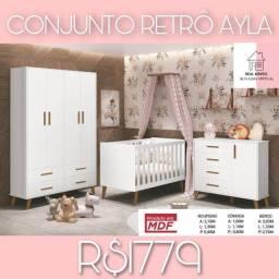 Conjunto conjunto retrô Ayla retrô Ayla real móveis