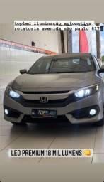 Honda Civic Led Premium 18 Mil Lumens Farois + Farois De Milha