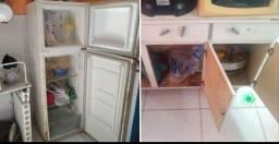 Armario e geladeira