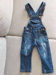 Macacão - Jardineira Jeans Azul - **Novo - SEM USO