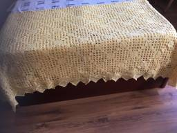 Colcha de cama de crochê