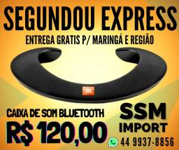 caixa de som de pescoço bluetooth apenas R$ 120,00 com entrega gratis