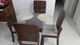 Mesa de vidro/4 lugares